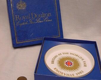 Vintage 1982 Knoxville World's Fair Royal Doulton Britain Souvenir Collectible Dish