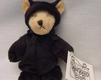 Ganz Wee Bear Village Grizzle Black Bear Stuffed Animal Toy Collectible