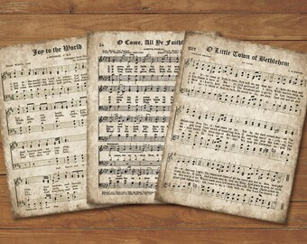 image about Printable Sheet Music for Crafts named O Holy Night time Classic Hymn Print Established of 2 Instantaneous Down load Etsy