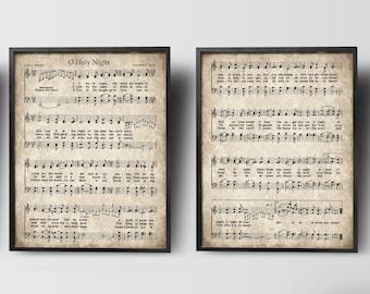 photograph relating to Free Printable Vintage Christmas Sheet Music titled Xmas Carols Classic Established of 3 Quick Obtain Sheet Etsy