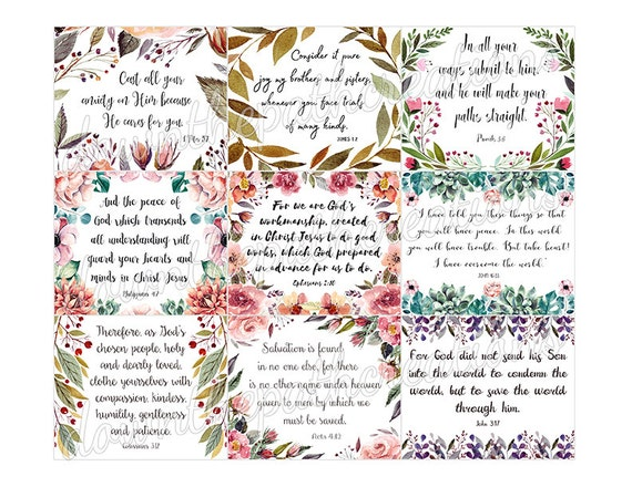 picture relating to Printable Bible Verse Cards referred to as 45 Printable Bible Verse Playing cards, 3\