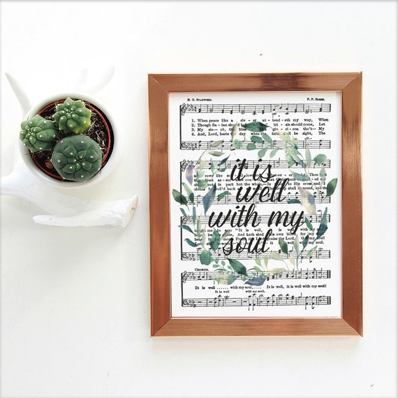 photograph about Printable Hymns Sheet Music identified as Printable It Is Nicely with My Soul Hymn Artwork, Sheet Songs, Quick Obtain, Hymnal Webpage Print, Christian Quotation, Floral Scripture Decor