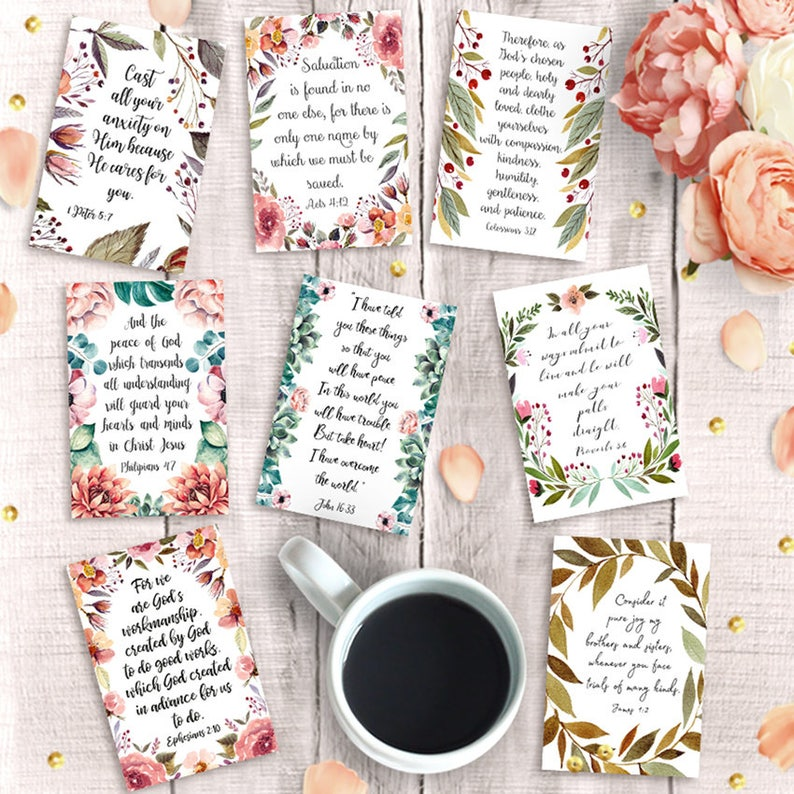 picture about Printable Scripture identified as Printable Scripture Playing cards, Preset of 9, Instantaneous Down load, 4x6 print, Bible Verse Postcard, Greeting Pack, Inspirational Artwork Magazine, Bookmarks
