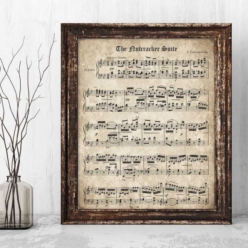photograph about Vintage Sheet Music Printable identified as The Nutcracker, Printable Basic Sheet New music, Prompt Obtain, Tchaikovsky Artwork Print, Clical Piano New music, Xmas Tune Decor