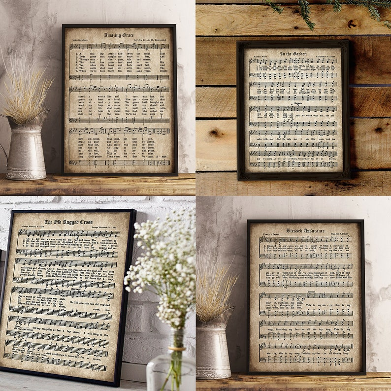graphic regarding Old Rugged Cross Printable Sheet Music named Previous Hymn Print Established of 5, Printable Classic Sheet Tunes, Extraordinary Grace, Outdated Rugged Cross, Fast Obtain, Inspirational, Christian Artwork, PDF