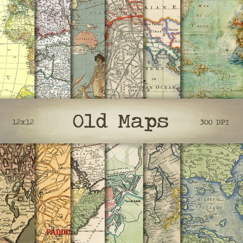 photo relating to Printable Vintage Maps known as Antique Maps Electronic Paper, 12x12, Quick Down load, Planet Heritage, Printable Outdated Charts, Typical Texture, Sbook Paper, Collage Sheet