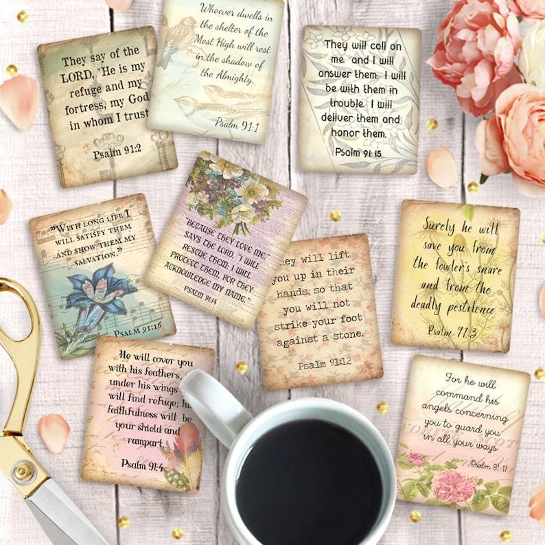 Psalm 91 Printable Bible Verse Cards, 2 5