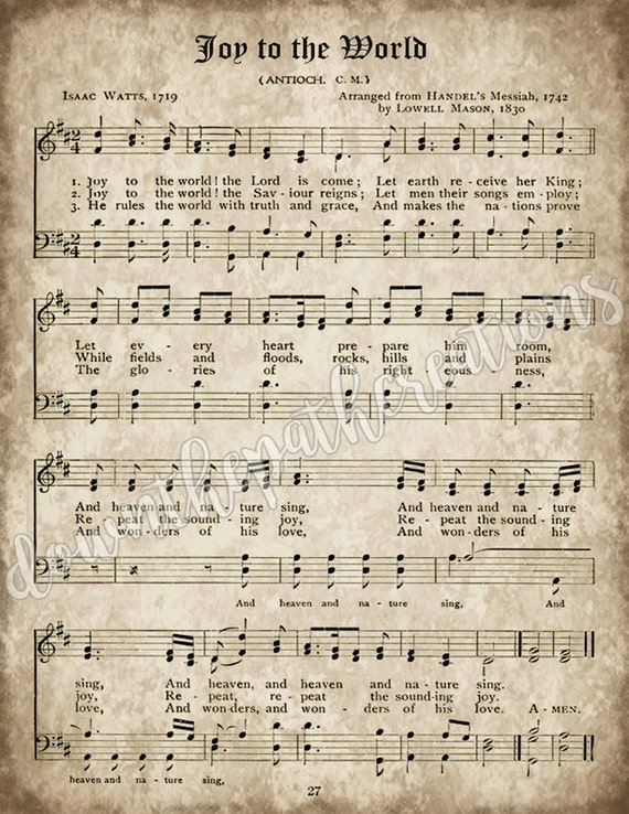 Old Christmas Carols.Old Christmas Carols Set Of 3 Prints Instant Download Printable Sheet Music Aged Antique Hymns Joy To The World O Come All Ye Faithful
