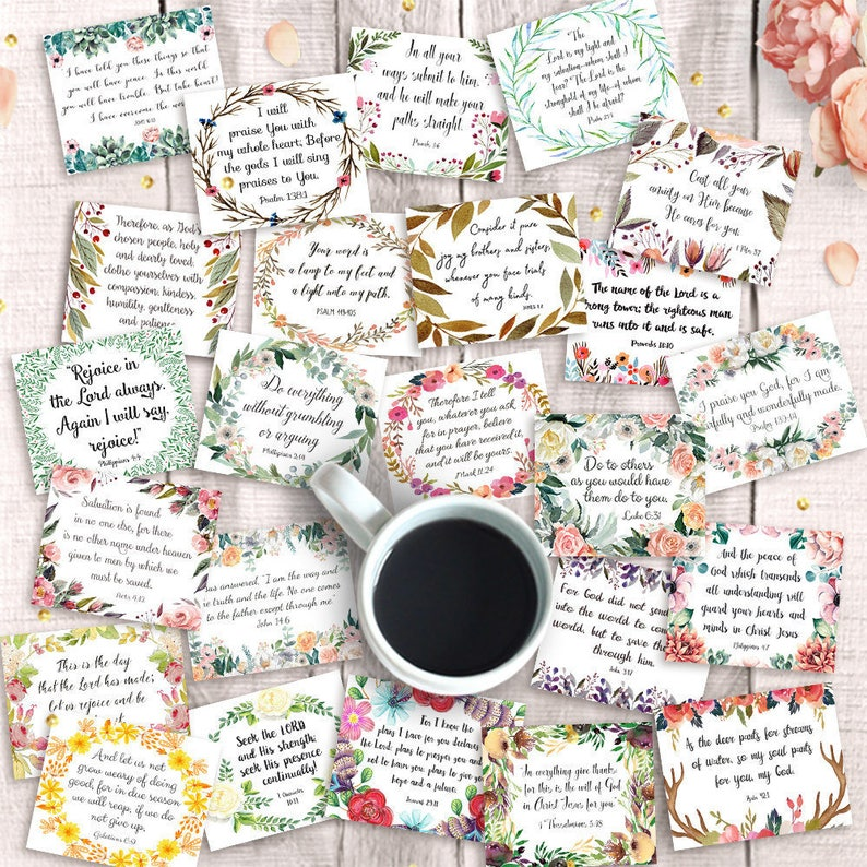 photo relating to Printable Bible Verse Cards known as 45 Printable Bible Verse Playing cards, 3\