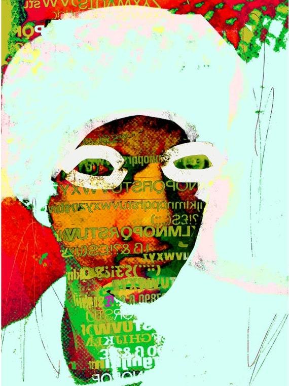 illustration, urban, contemporary, print, portrait, wall art