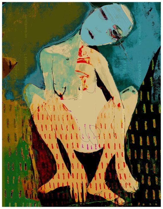 Artwork, fine art print, linda v