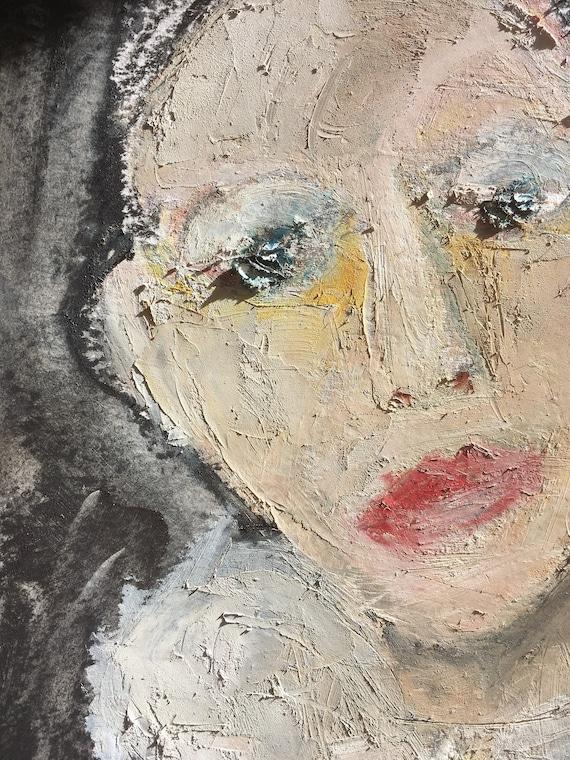 The oil painting, original artwork, figurative, raw art, unique art