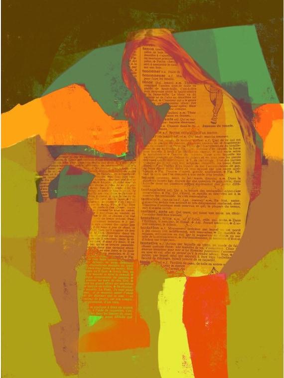 Urban, contemporary wall art, print, portrait, linda v