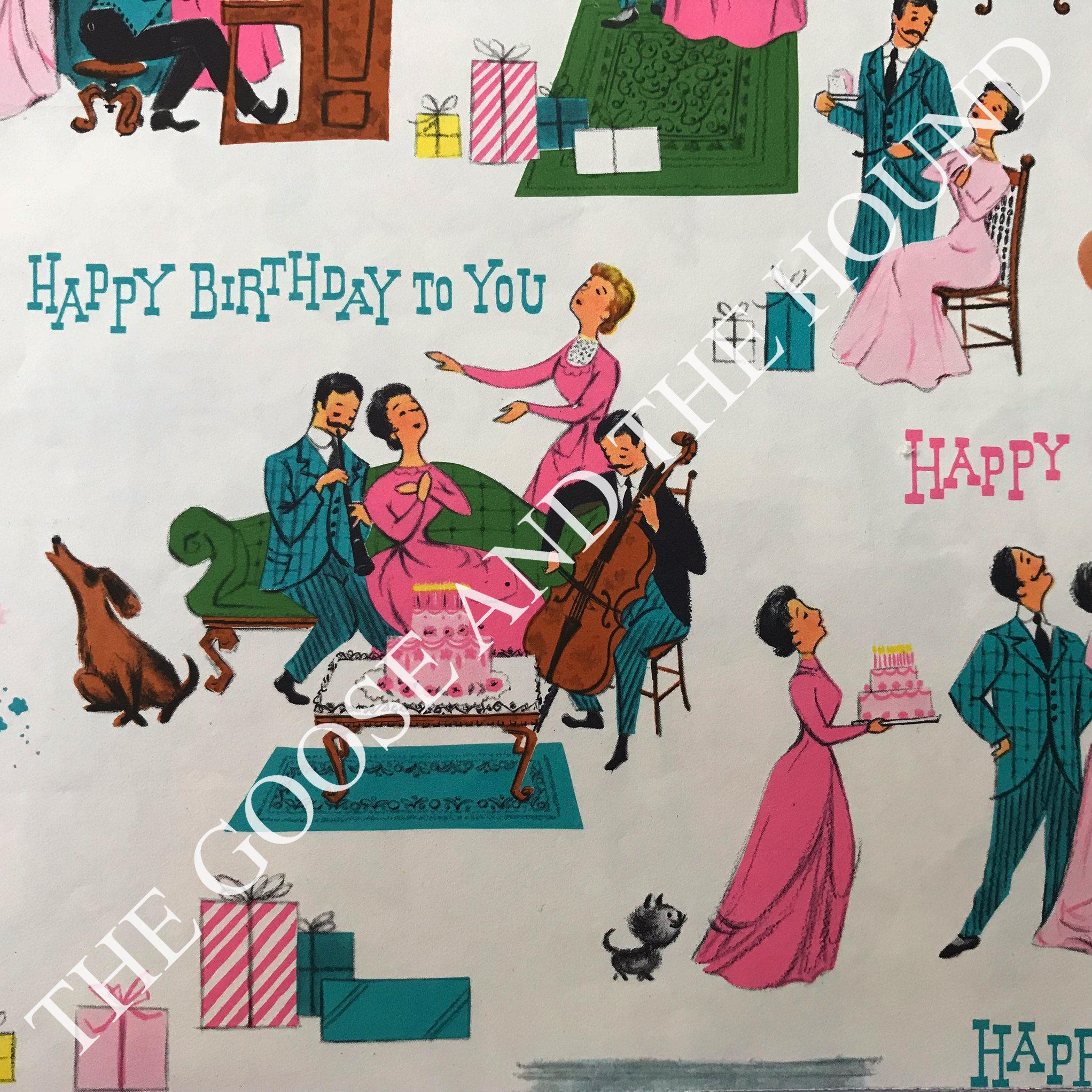 Vintage Geschenkverpackung Papier eine Gay 1950er Jahre | Etsy