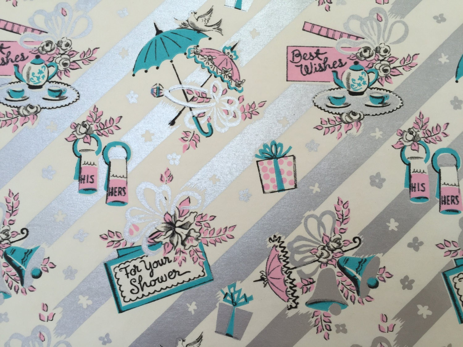 Wedding Gift Paper: Vintage Gift Wrapping Paper By Dennison Traditional