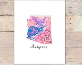 Arizona Printable Watercolor Grand Canyon