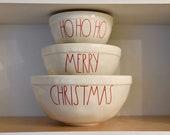 Rae Dunn Christmas Bowls.Items Similar To Rae Dunn Inspired Christmas Mixing Bowl