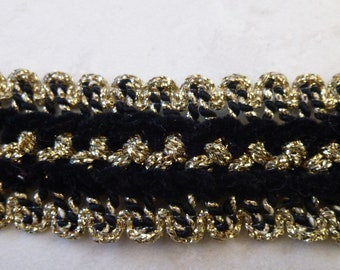 Black Velvet with Gold Accent Trim