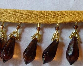 Amber Plastic Beads on Band