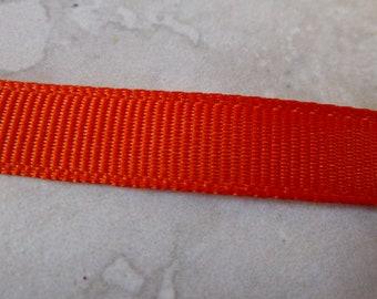 Orange Woven Edge Ribbon