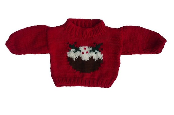 Baby Christmas Pudding Jumper Chunky Knitting Pattern Etsy