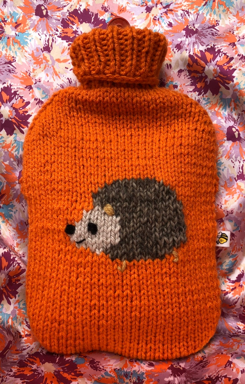 Hedgehog hot water bottle cover knitting pattern | Etsy