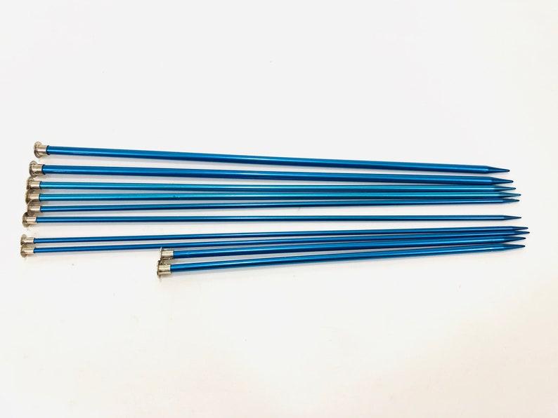 sewing needles knitting aluminum needles Boye needles 8 blue knitting needles Knitting needles