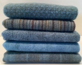 SKY BLUE textures hand dyed and felted wool for rug hooking and other fiber arts projects