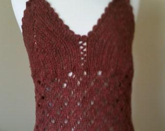 Silk Crochet Top