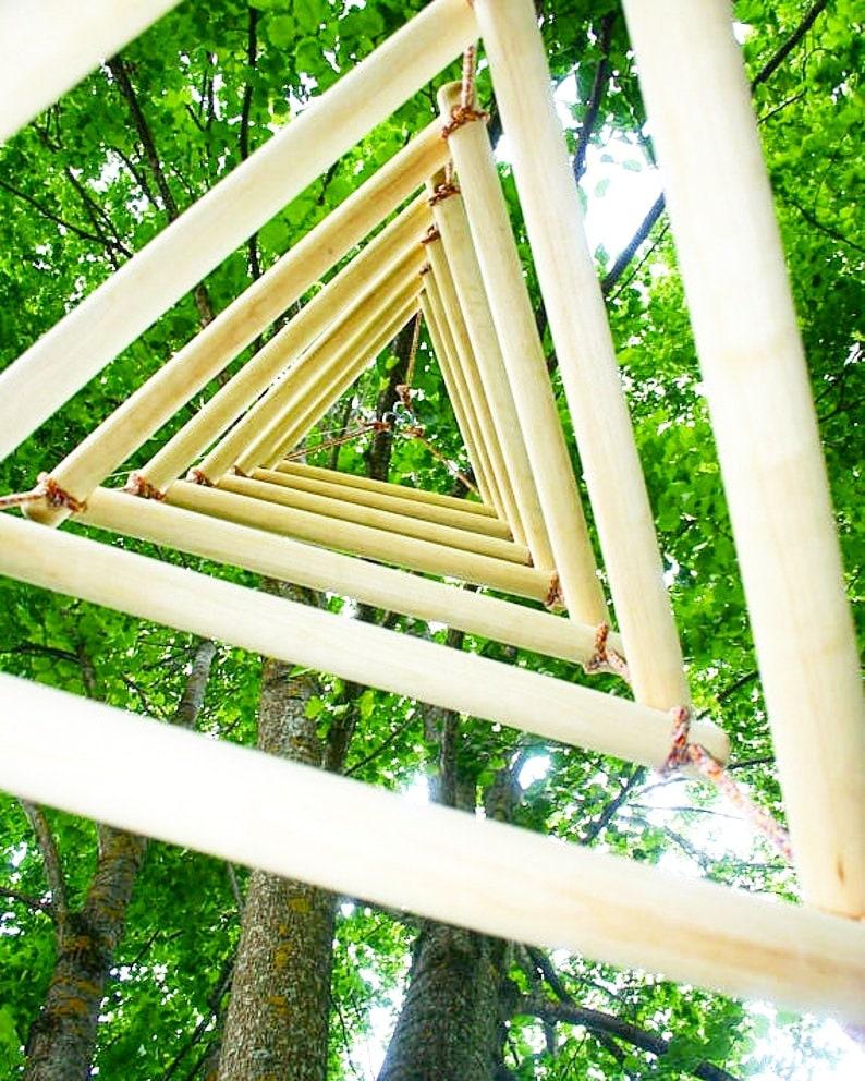 large triangular rope ladder image 0