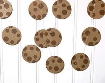 Chocolate Chip Cookie Garland Cookies and Milk Party Decoration Birthday Party First Birthday Cookie Decoration One Dozen Cookies 3ft length