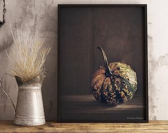 Pumpkin Photography Print, Farmhouse Kitchen Wall Decor, Dining Room Decor, Fall Wall Decor, Harvest Wall Decor, Pumpkin Decor