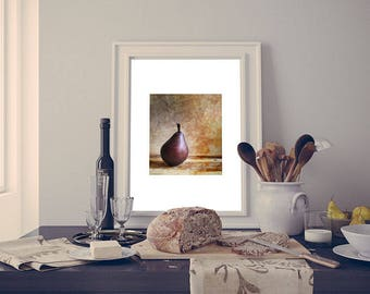 Printable Photography, Kitchen Picture, Still Life Photo, Pear Photo Print, New Home Gift, Printable Wall Art, Fruit Photo