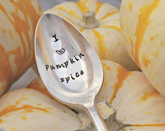 Fall Gift for Family Stamped Spoon Autumn Gift for Friend Unique Gift Silverplate Spoon PUMPKIN lover Pumpkin Lover Pumpkin Gift