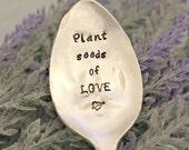 Plant seeds of LOVE Garden Marker Upcycled Garden Markers Housewarming Gift Garden Decor Garden Gift