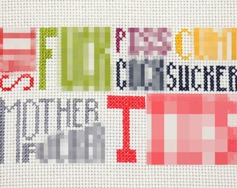 PATTERN FOR DOWNLOAD: Seven Dirty Words