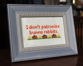 PATTERN FOR DOWNLOAD: Patronizing Bunny Rabbits