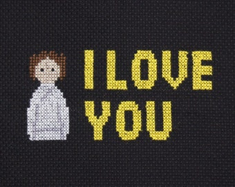 PATTERN FOR DOWNLOAD: I Love You and I Know - Han and Leia
