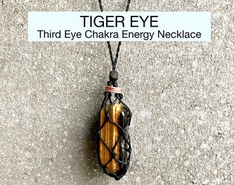 Tiger Eye Third Eye Chakra Energy Healing Necklace