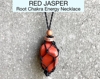Red Jasper Root Chakra Energy Healing Necklace