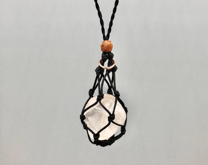 Rose Quartz  Heart Chakra Energy Healing Necklace