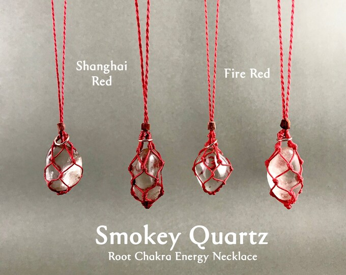 Smokey Quartz Root Chakra Energy Healing Necklace