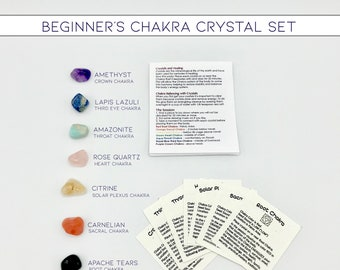 Beginner's Chakra Crystal Set