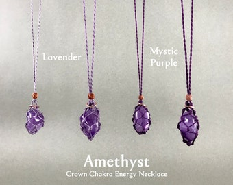 Amethyst Crown Chakra Energy Healing Necklace