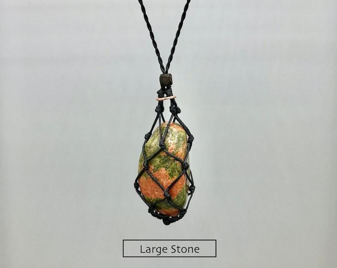 Unakite Heart Chakra Energy Healing Necklace