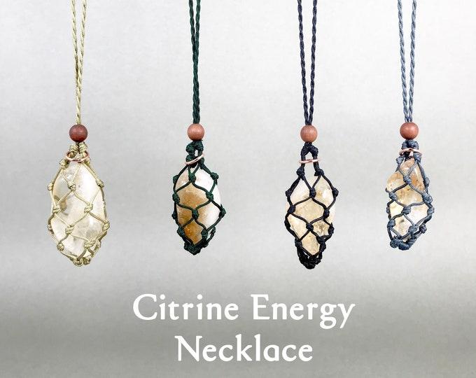 Citrine Solar Plexus Chakra Energy Healing Necklace