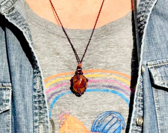 Carnelian Sacral Chakra Energy Healing Necklace