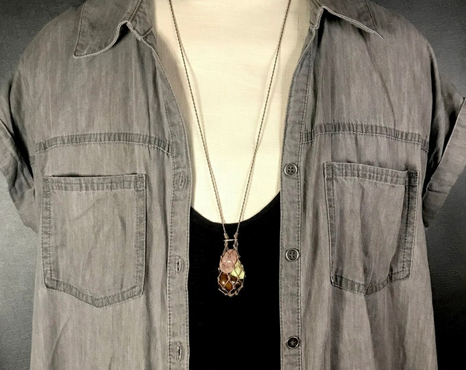 Small Crystals Energy Healing Necklace