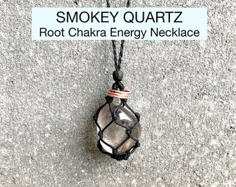 Smoky Quartz Root Chakra Energy Healing Necklace