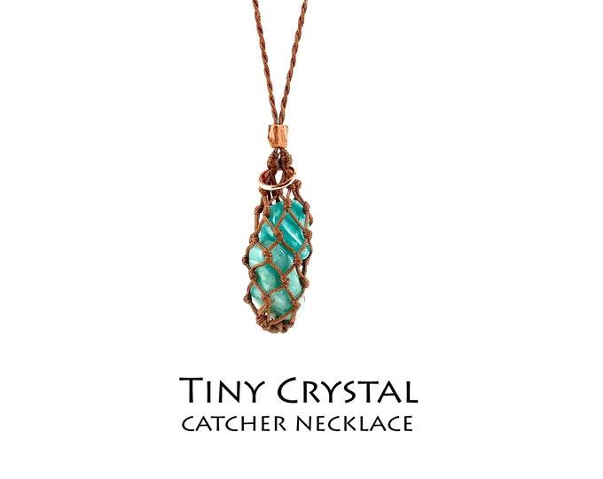 Tiny Crystal Catcher Necklace